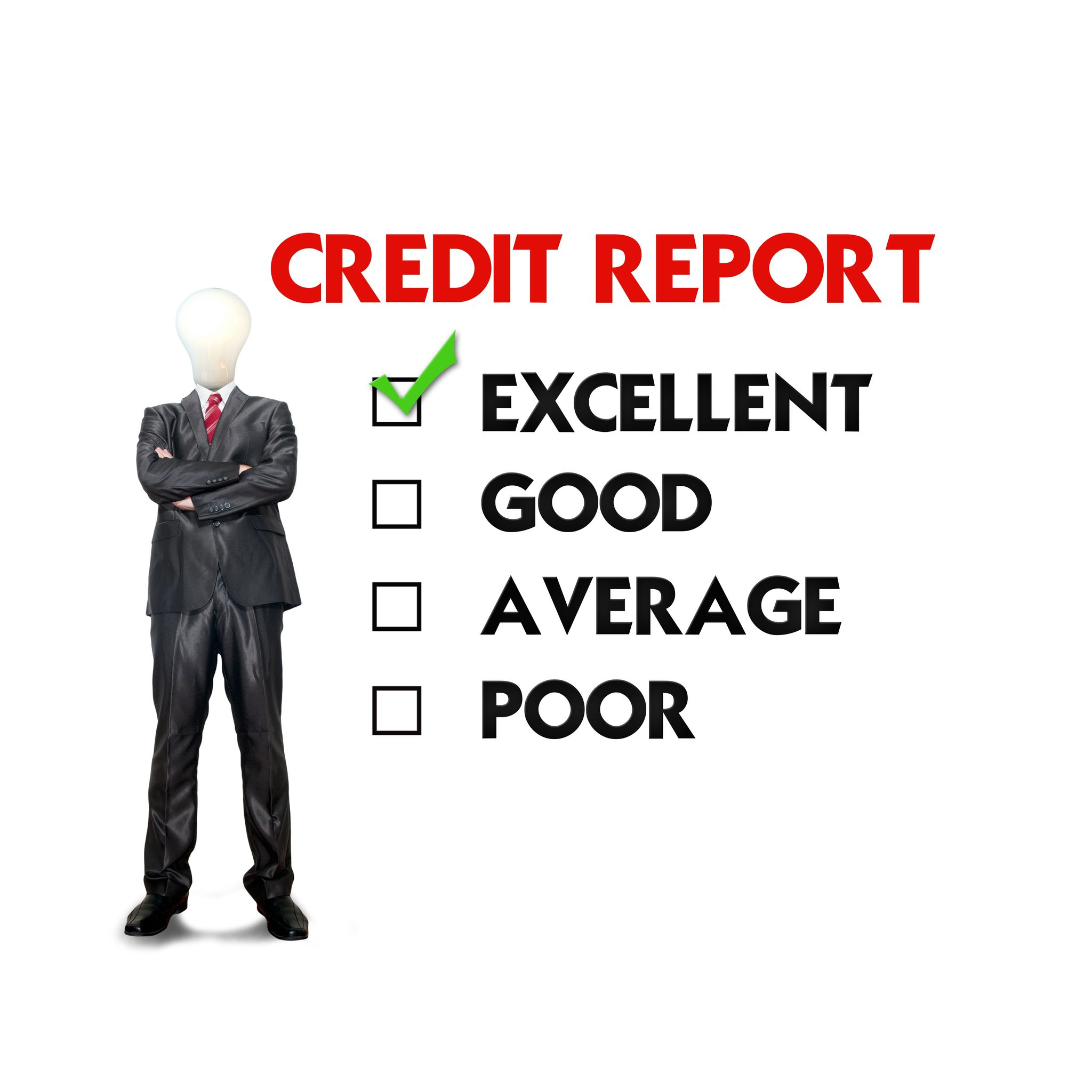 Credit guarantee 14107321 business man mark on the check boxes 14107321 business man mark on the check boxes credit score reheart Images