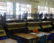 Chairs and desks inside a classroom