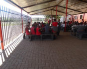 Students sitting at a cafeteria