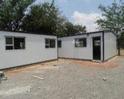Make-shift school with a white colour