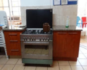 A gas stove