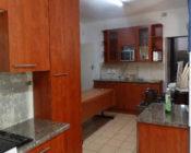 A modern brown kitchen